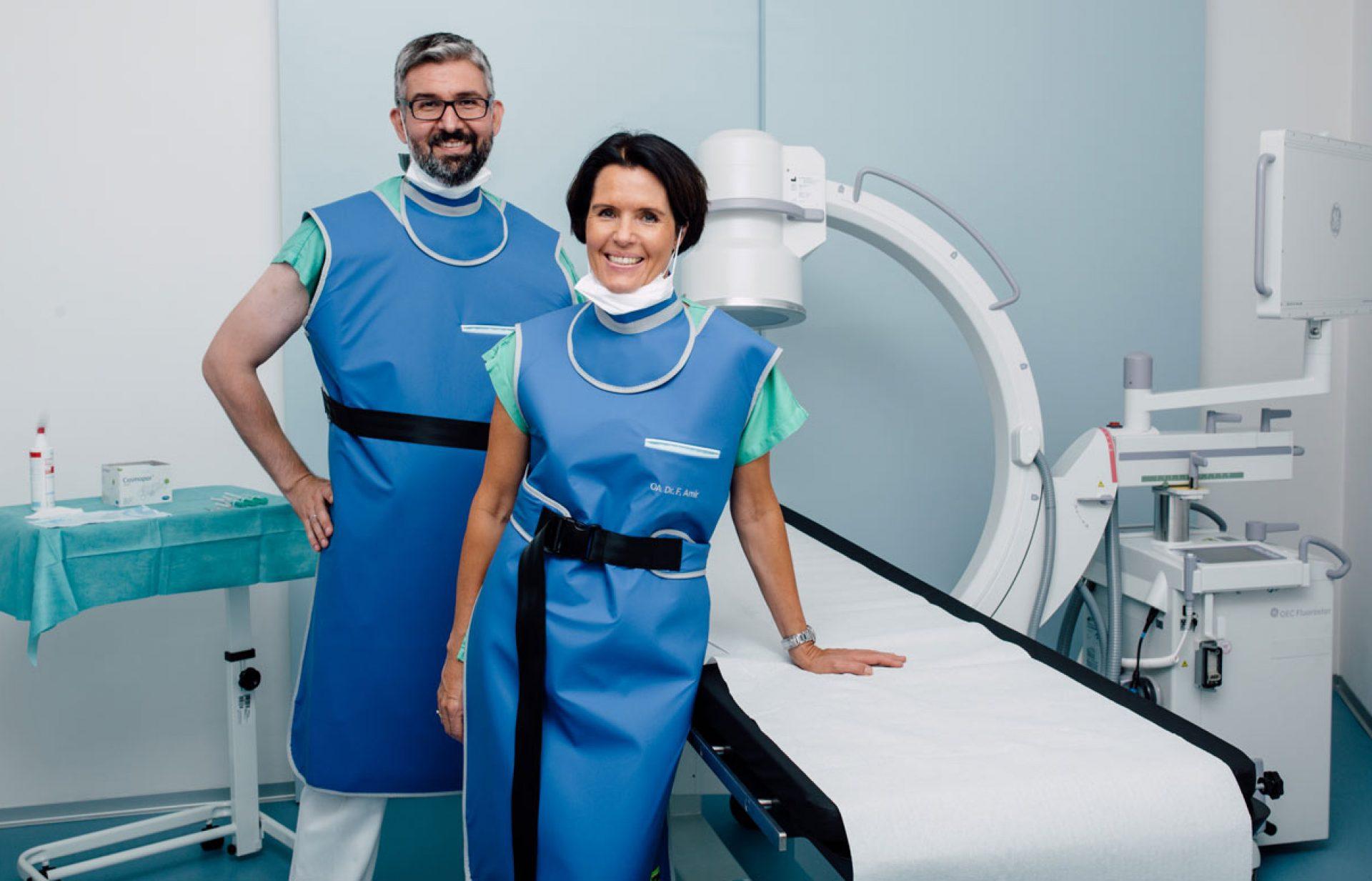 Verödungen und Denervierungen der versorgenden Nerven der Facetten und des ISG. Dr. Amir, Dr. Altenhuber