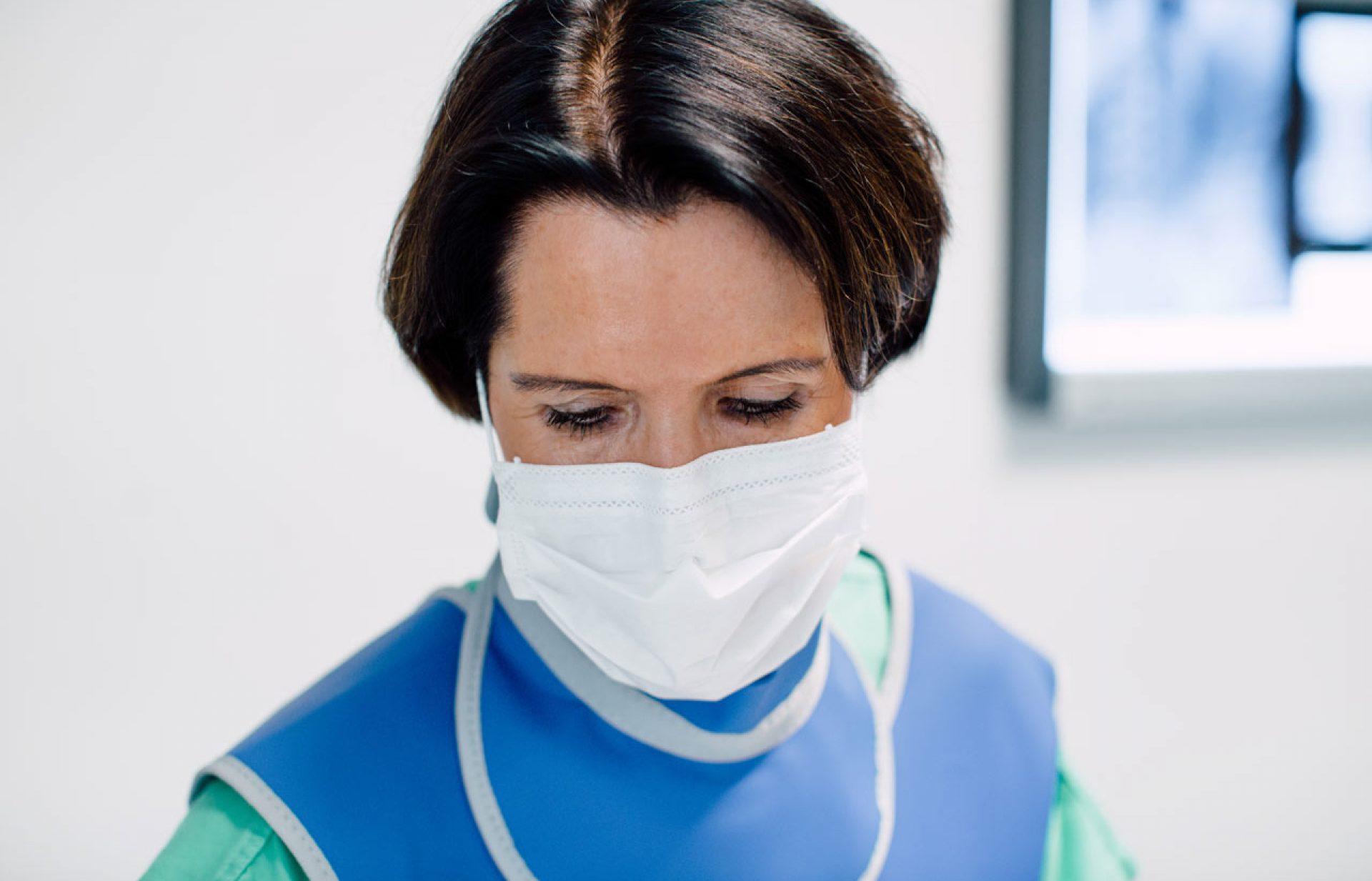 Infiltration des ISG durch Frau OA Dr. Elisabeth Altenhuber-Enickl
