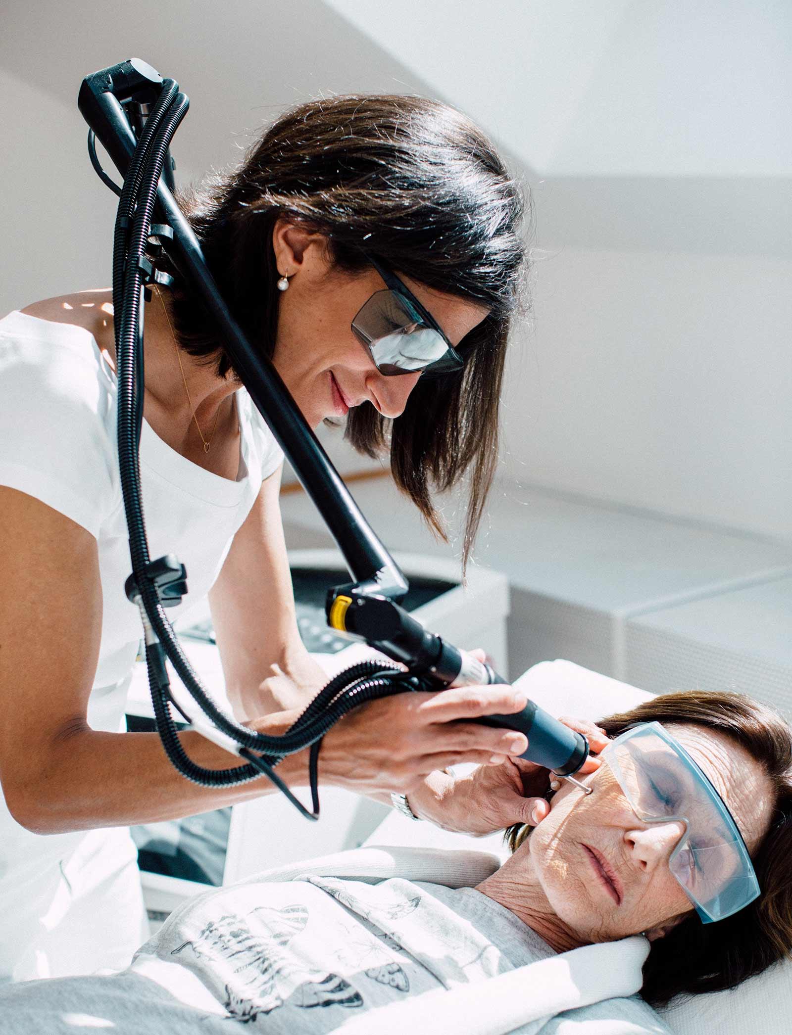 Lasertherapie zur ästetischen Behandlung
